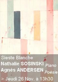 Sieste Blanche - Paino