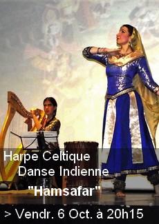 Harpe Celtique et Danse Indienne