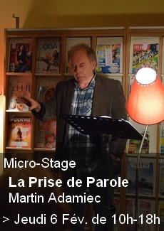 Micro-Stage sur la Prise de Parole